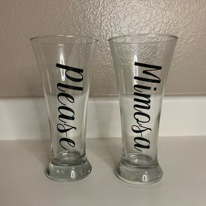 BRAND NEW DRINKING GLASSES